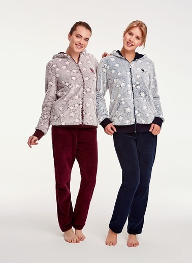 U.S.Polo Assn. Pijama Takım Bordo
